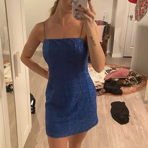 Topshop blue sparkly dress